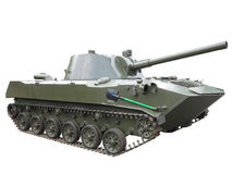 Russian green infantry fighting vehicle isolated Stock Photography