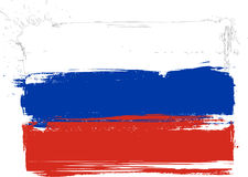Russian grunge flag Royalty Free Stock Photos