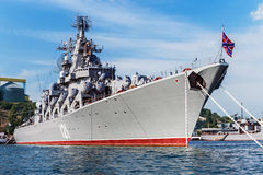 Russian guided missile cruiser Moskva Stock Image