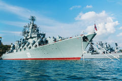 Russian guided missile cruiser Moskva Stock Photos