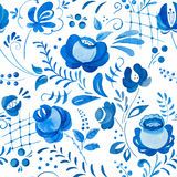 Russian gzhel pattern Royalty Free Stock Images