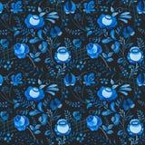 Russian gzhel pattern Stock Images