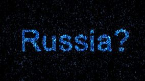 Russian hackers. Danger in the Internet. Malicious code hacker. Royalty Free Stock Image