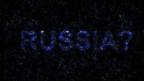 Russian hackers. Danger in the Internet. Malicious code hacker. stock video footage