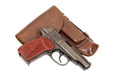 Russian handgun and holster Stock Photo