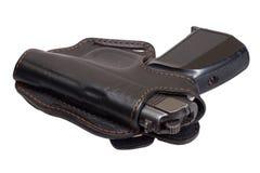 Russian handgun PMM-Makarov in a holster Stock Photos