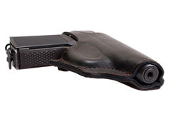 Russian handgun PMM-Makarov in a holster Royalty Free Stock Photography