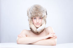 Russian hat Stock Photo