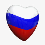 Russian Heart. Heart with flag of Russia royalty free illustration