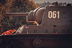 Russian heavy tank KV-1 Royalty Free Stock Photos