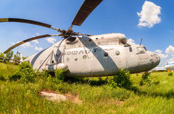 The russian heavy transport helicopter Mi-6 Royalty Free Stock Photos