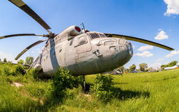 The russian heavy transport helicopter Mi-6 Royalty Free Stock Images