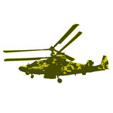 Russian helicopter Ka-52 (alligator). Vector Stock Photography