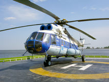 Russian helicopter Stock Photography