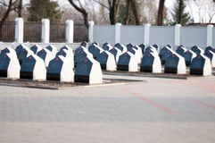 Russian heroes monuments Royalty Free Stock Images