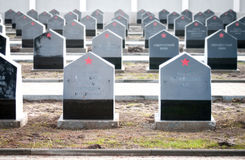 Russian heroes tombstones Royalty Free Stock Photo