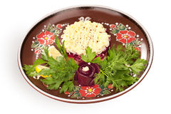 Russian herring salad Stock Photography