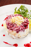 Russian herring salad Royalty Free Stock Images