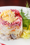 Russian herring salad Royalty Free Stock Photo