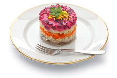 Russian herring salad Stock Photo