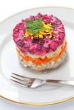 Russian Herring Salad Stock Images