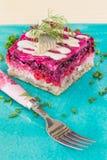Russian herring salad Shuba Royalty Free Stock Image