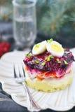 Russian herring salad Royalty Free Stock Image