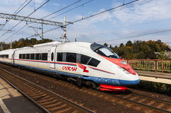 Russian high-speed passenger train Stock Photo