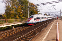 Russian high-speed passenger train Royalty Free Stock Photo