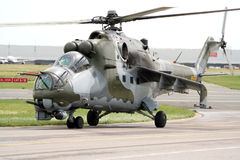 Russian Hind attack helicopter royalty free stock photos