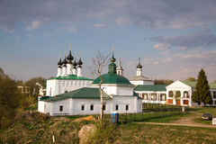 Russian historic Old town Suzdal - the Golden Ring, an ancient monastery, tourist places Stock Photos