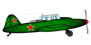 Russian historic tactical plane Ilyushin Il-2 Royalty Free Stock Photo