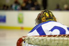 Russian hockey player. Goalkeeper Stock Images