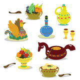 Russian holiday dishes Royalty Free Stock Photos