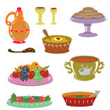 Russian holiday dishes Stock Photo