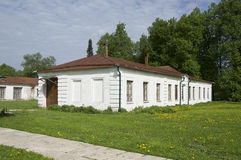 Russian homestead (house for serfs) Stock Photo