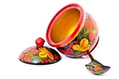 Russian honey pot Stock Images