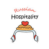 Russian hospitality.Bread-and-salt welcome. Royalty Free Stock Photography