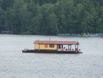 Russian houseboat Stock Images