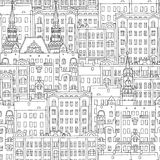 Russian houses seamless pattern Royalty Free Stock Images