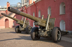 Russian howitzer Royalty Free Stock Image