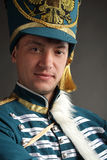 Russian hussar Stock Images