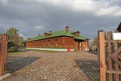 Russian hut. Kolomenskoye, Moscow Stock Image