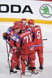 Russian Ice hockey players Royalty Free Stock Photo