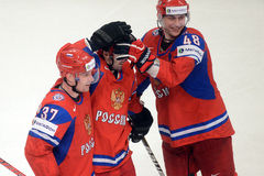 Russian ice hockey team Royalty Free Stock Photo