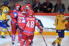 Russian ice hockey team Royalty Free Stock Image