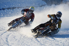 Russian Ice Speedway Championship Royalty Free Stock Image