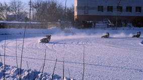 Russian Ice Speedway Championship stock video footage