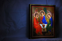 Russian icon. Russian wood icon in old style Stock Photos