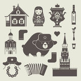 Russian icons Royalty Free Stock Image